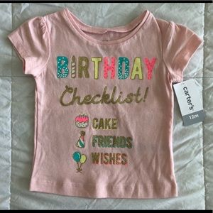 NEW!  Carter's Birthday Graphic T-Shirt - Size 12M